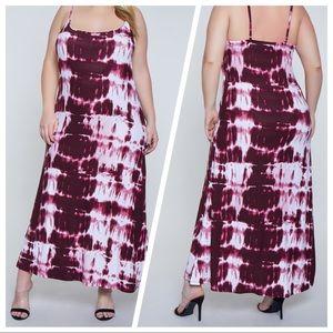 🌺🆕TIE-DYE BOHO CHIC SUPERSOFT MAXI DRESS NWT🌺